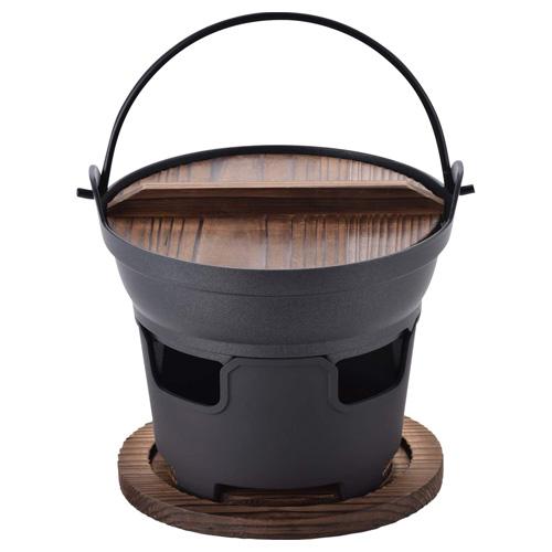 おもてなし和食木蓋付いろり鍋16㎝セット