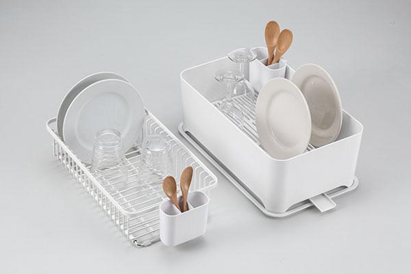YOHAKU(ヨハク)コンパクトにまとまる大容量水切りセット ピュアホワイト