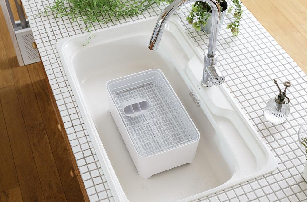 めんどくさいお掃除からの解放。まとめてつけ置き洗いが可能なイージーケア。