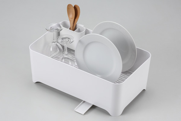 YOHAKU(ヨハク)洗い桶になる水切りケース ピュアホワイト