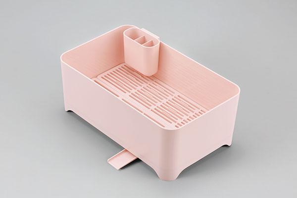 YOHAKU(ヨハク)洗い桶になる水切りケース ブラッシュピンク