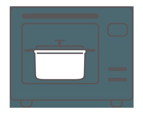 オーブンで加熱時間を有効に