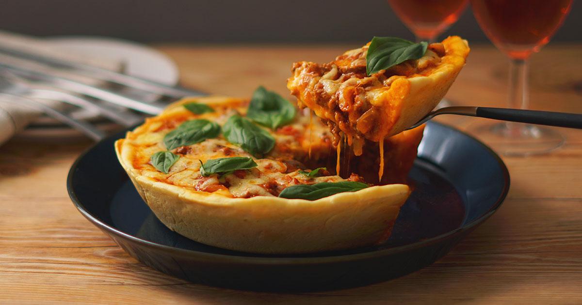ディープディッシュピザ(シカゴピザ) ~とろ~りチーズのミートPIZZA~