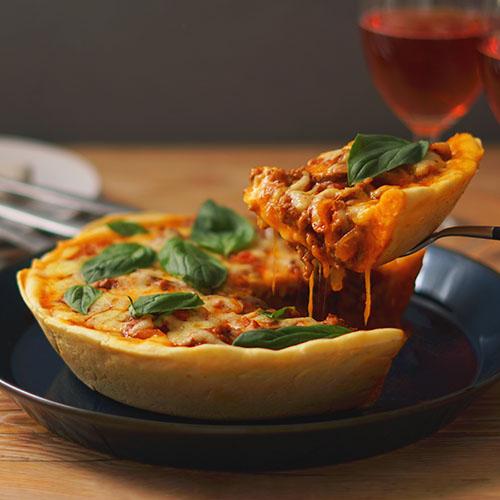 ディープディッシュピザ(シカゴピザ)~とろ~りチーズのミートPIZZA~