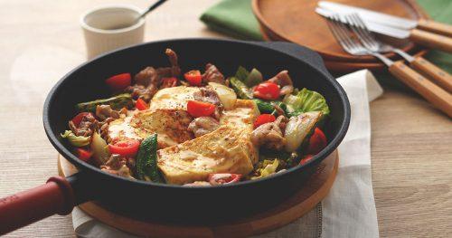 春野菜と豆腐ステーキのおかずサラダ