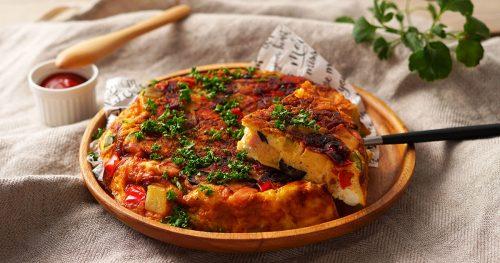 クリームチーズ入りスペイン風オムレツ