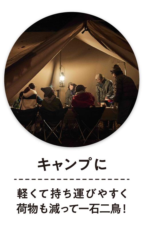 キャンプに