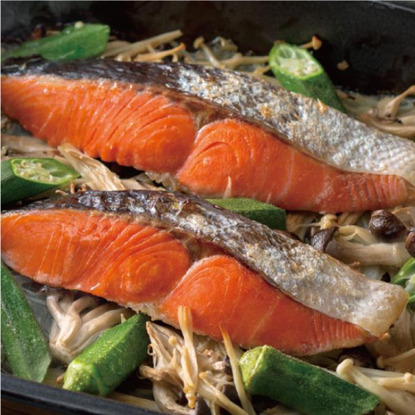 鮭の蒸し焼き