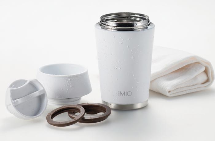 IMIO(イミオ) デスクタンブラー パッキンも取り外して洗えるので清潔です