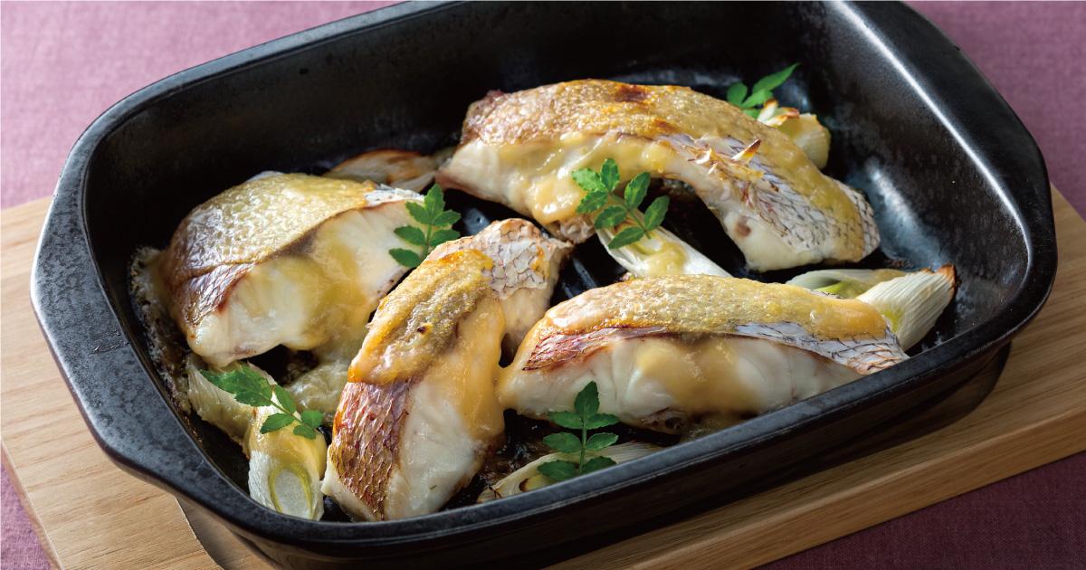 鯛と味噌の相性◎鯛の味噌焼き