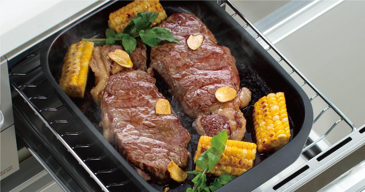 ガッツリ食べたい厚切り牛ステーキ