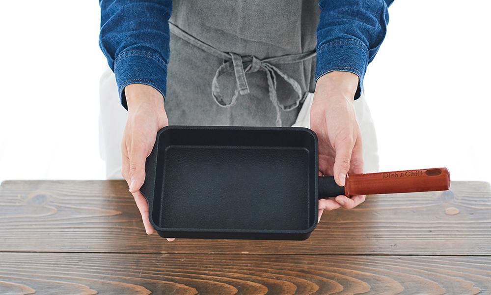 Dish&Chill(ディッシュアンドチル) IH対応スクウェアパン 14×19cm