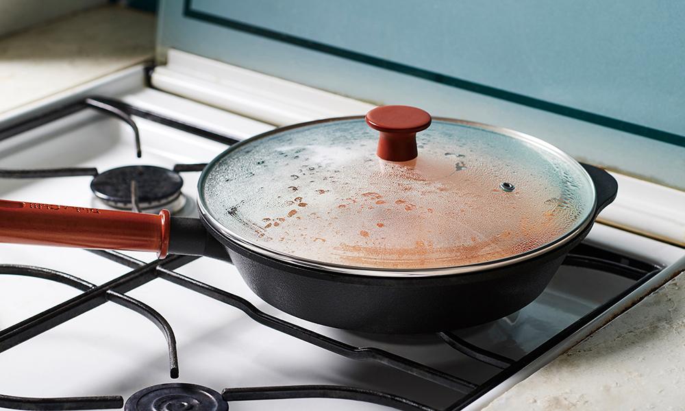 Dish&Chill(ディッシュアンドチル) IH対応ガラス蓋付オンザテーブルパン