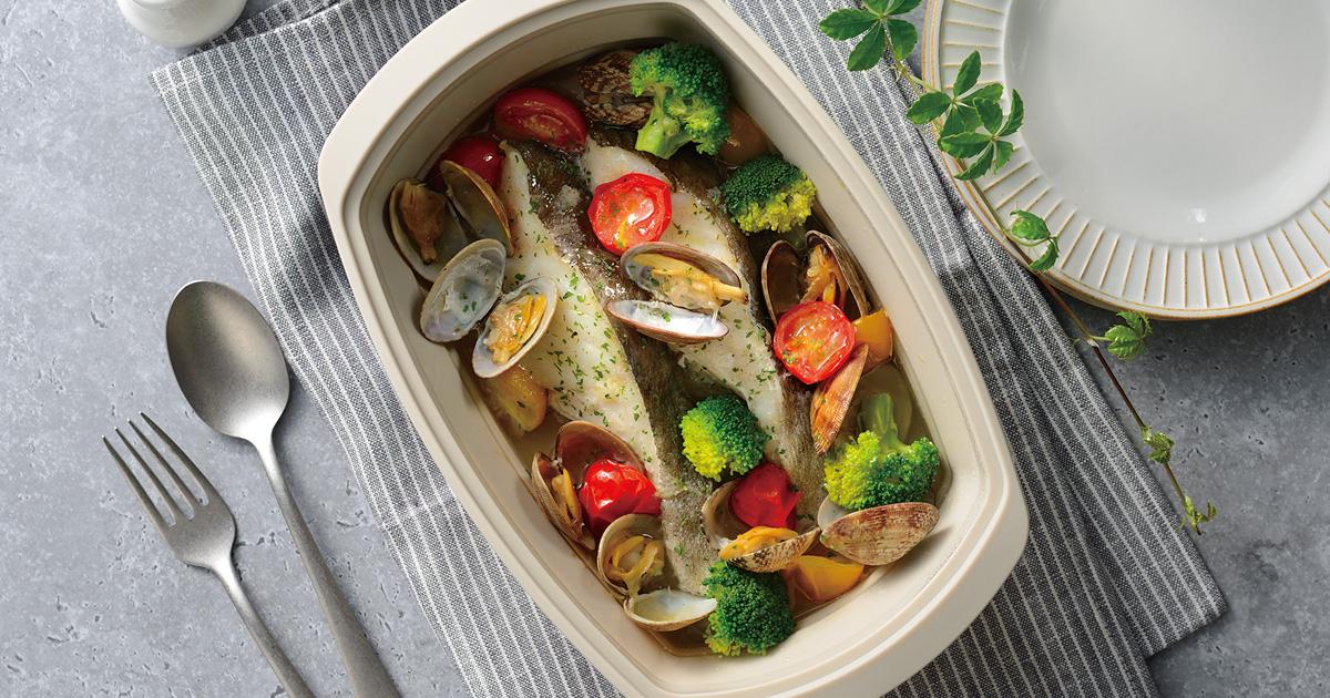 白身魚のアクアパッツァ