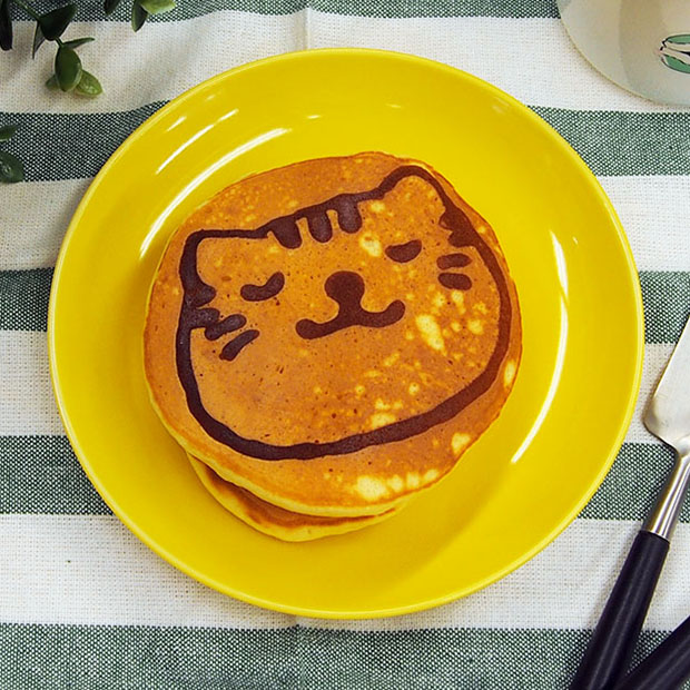 お絵描きネコパンケーキ