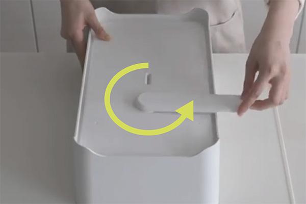 排水ノズルが360度回転するから、多様なキッチンに対応