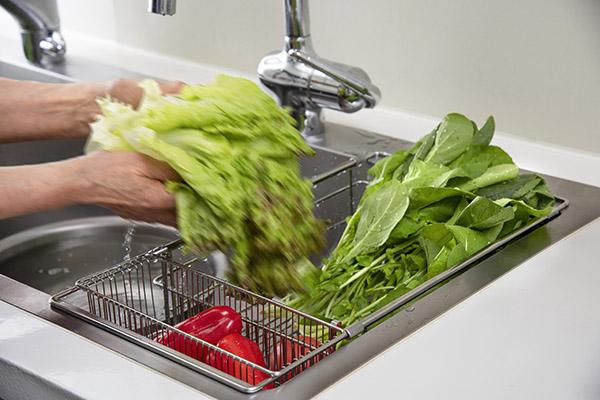野菜の水切りにも