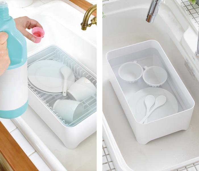 台所用漂白剤で漂白するつけ置き洗いのやり方