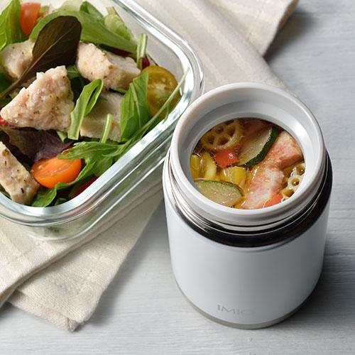 真空断熱構造で温かいスープやひんやりメニューを手軽に持ち運びできます。