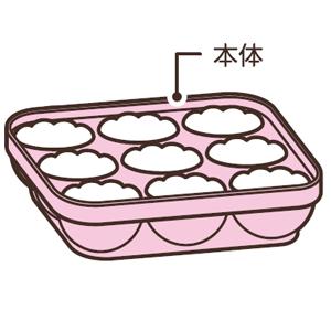 本体にご飯が少し盛り上がるように入れます。