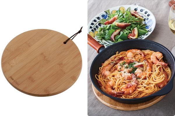 Dish&Chill バンブー鍋敷(丸型)