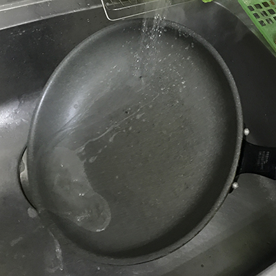 調理後すぐに水道水をかける等の急冷にも要注意