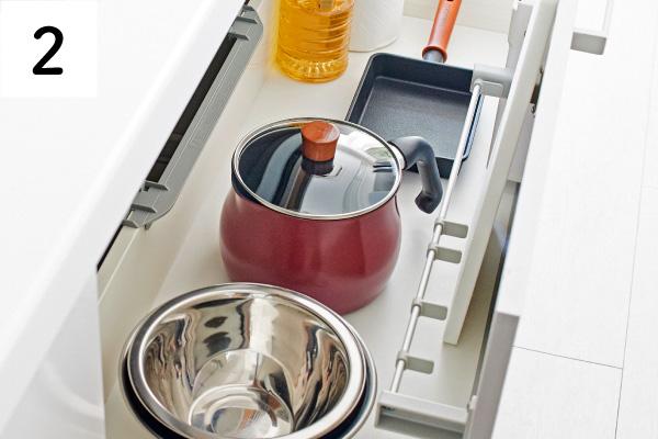 1台で7役調理が可能。沢山あった調理器具がこれ一つに集約。シンク下やコンロ周りがスッキリ片付く