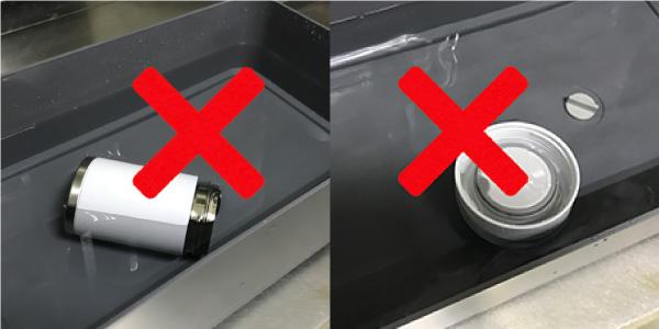 本体とキャップのつけ置き洗いはNG