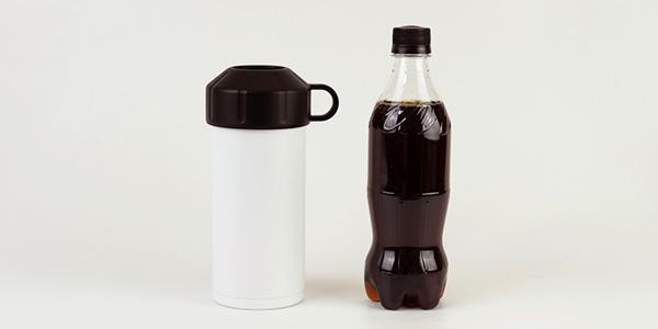 ステンレス真空断熱構造で飲料の冷たさが長持ちします。