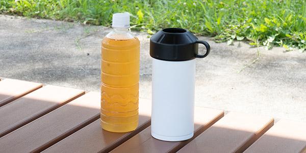 今回はペットボトルクーラーにピッタリ合うペットボトルを用意しました