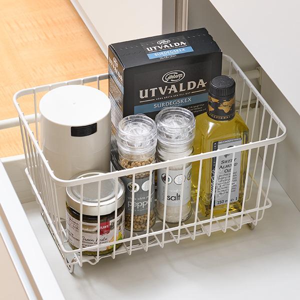 組み合わせ自由で食材や小物の整理に便利です