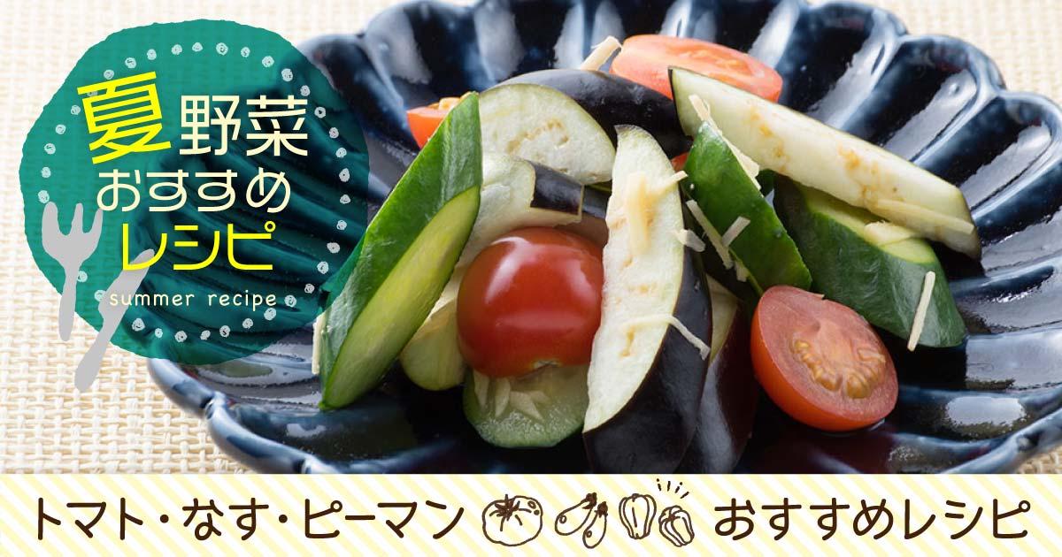 夏野菜のおすすめレシピ