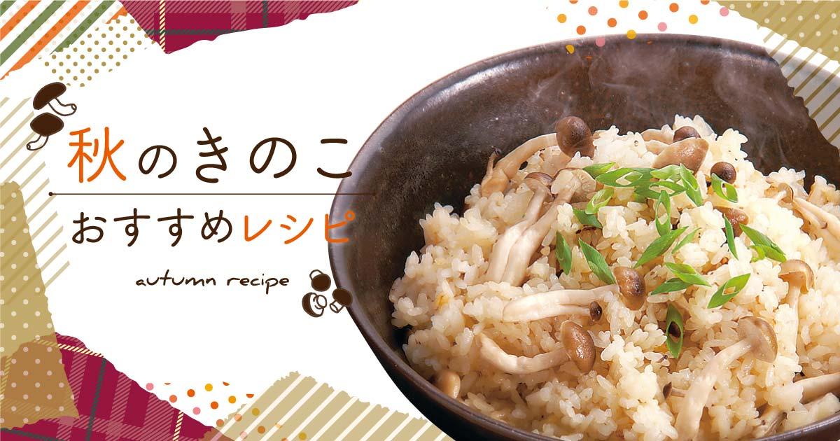 秋のきのこおすすめレシピ