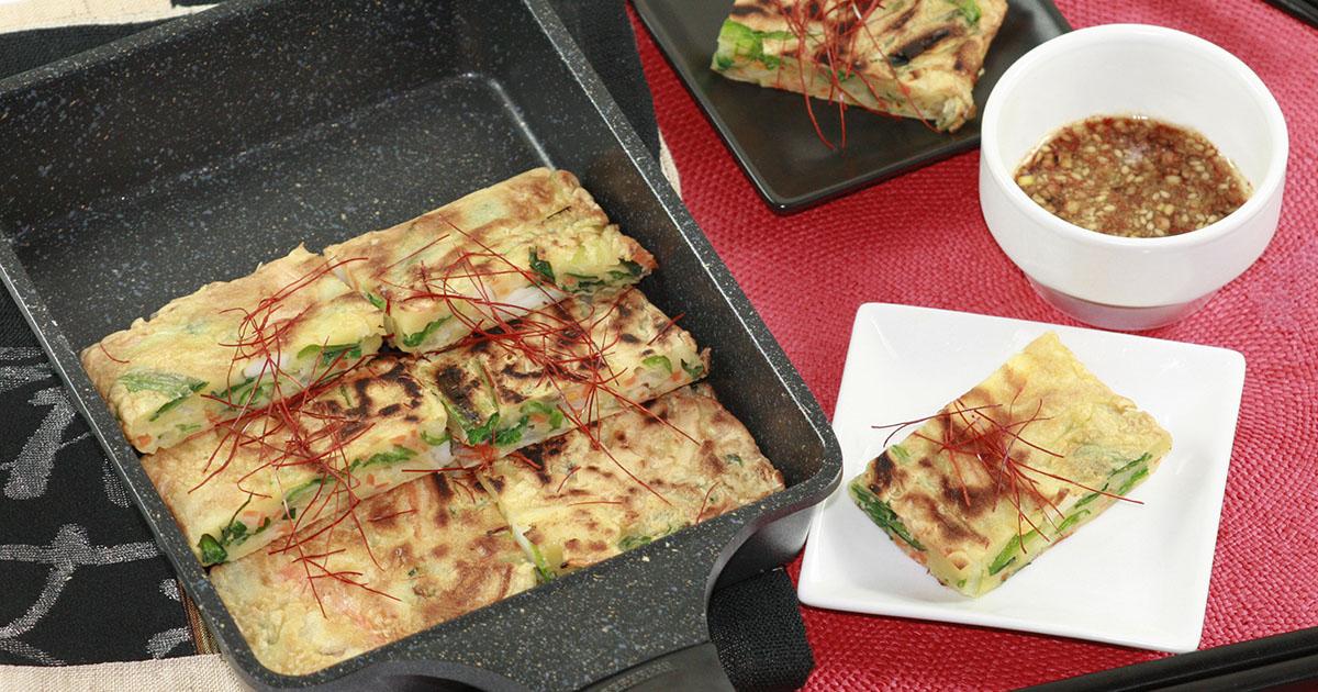 韓国おつまみ海鮮チヂミ