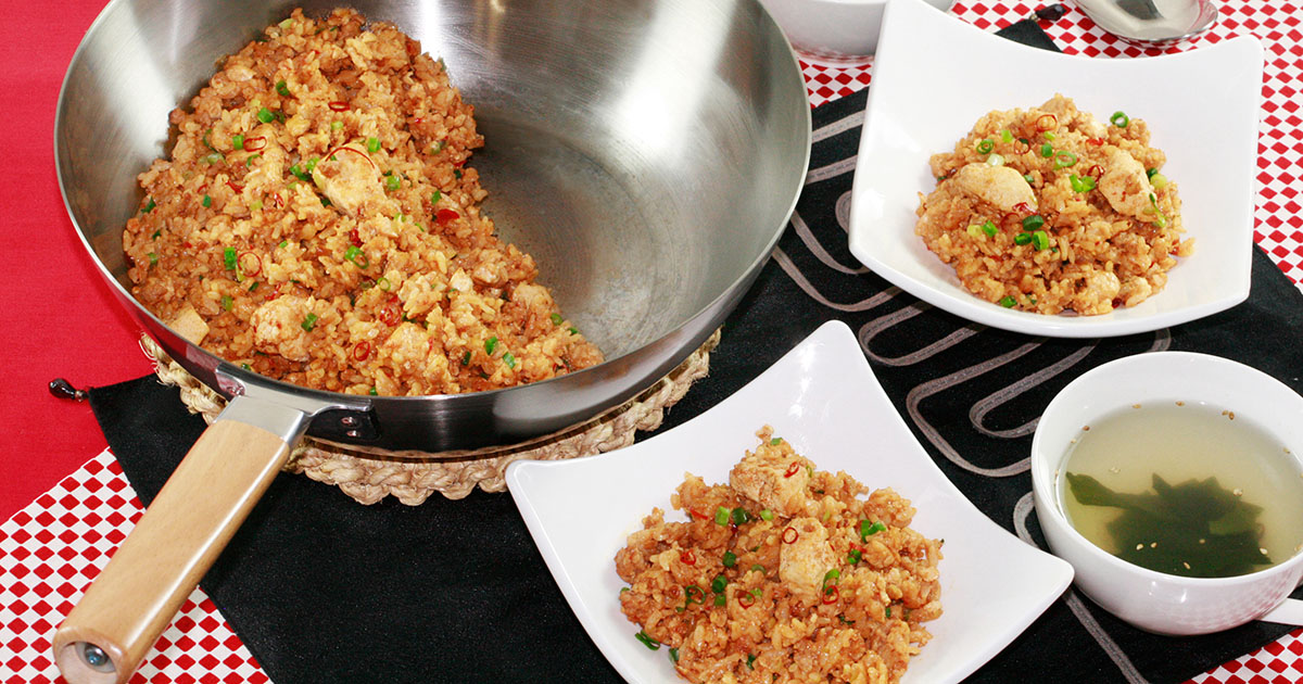 炒り豆腐の麻婆炒飯