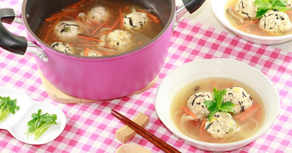 具だくさん豆腐団子スープ