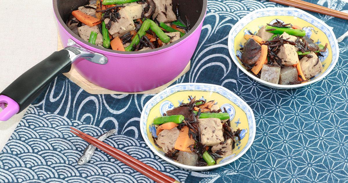 ひじきと高野豆腐の炒り煮