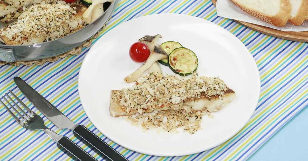 白身魚のムニエルサクサク香草パン粉ソース