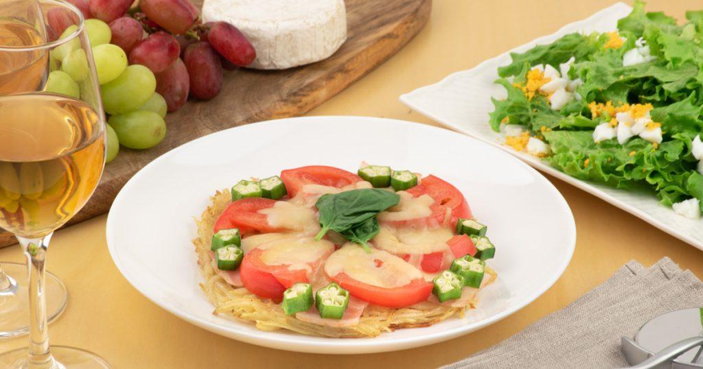 夏野菜のポテトピザ