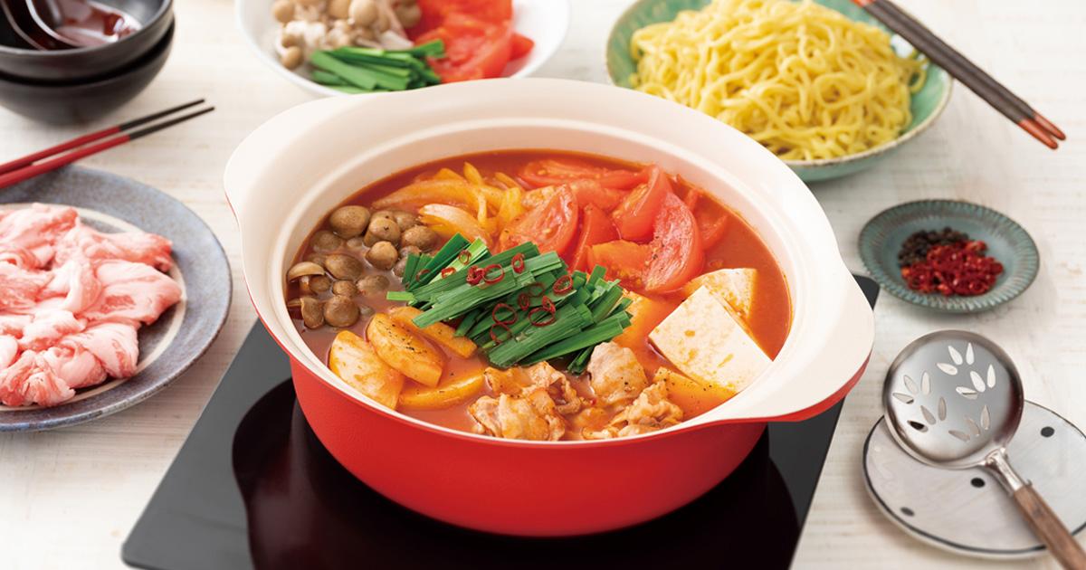 トマトのピリ辛火鍋