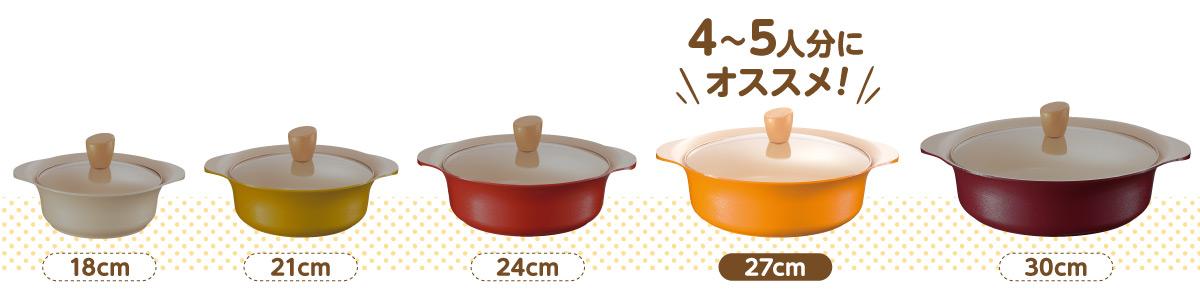 27cmの鍋を使った、4~5人分の鍋レシピ