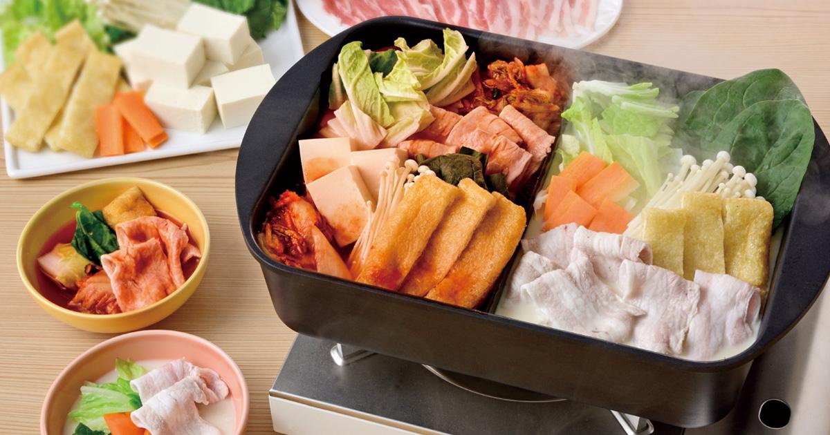 キムチ鍋&豆乳鍋