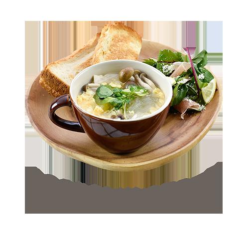 きのことクレソンのスープ