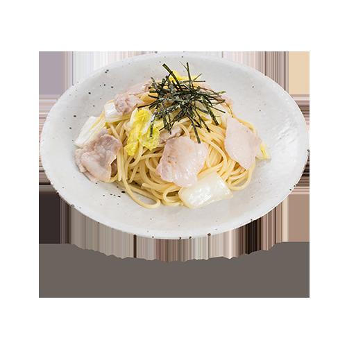 白菜と豚肉の和風パスタ
