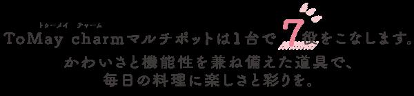 ToMay Charmマルチポットは1台で7役をこなします。