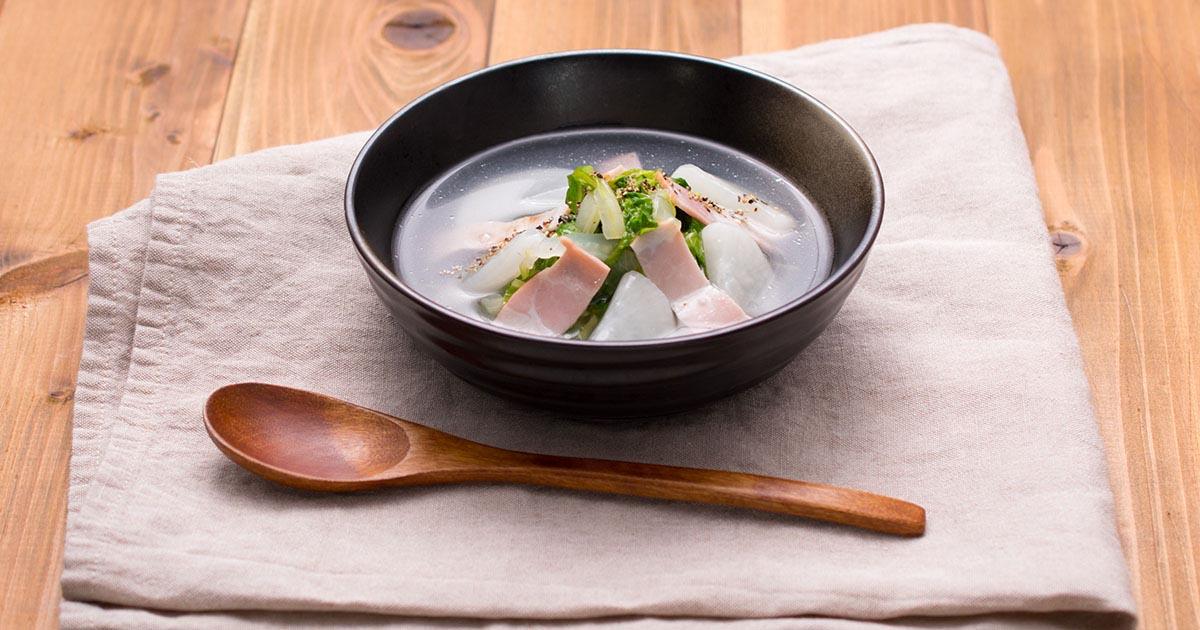 白菜たっぷりとろっとスープ