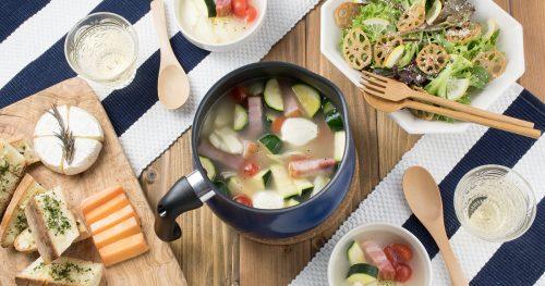 ミニトマトとベーコンの洋風鍋
