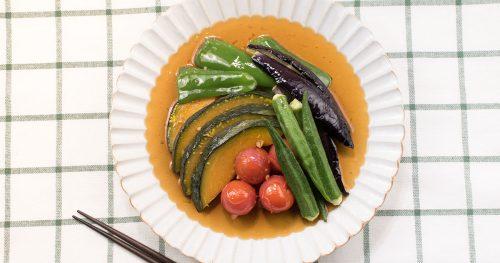 カラフル野菜の揚げ浸し