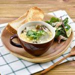 アレンジレシピ きのことクレソンの卵スープ