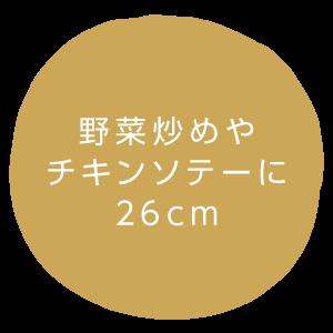 野菜炒めやチキンソテーに 26cm